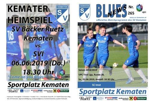 Blues News 265, Kemater Fussballtag