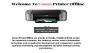Resolve Canon Printer Is Offline Mac issue - Call (+1) 8884800288