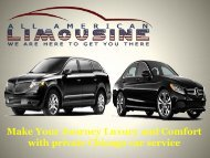 Make Your Journey Luxury and Comfort with private Chicago car service