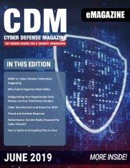 Cyber Defense eMagazine June 2019