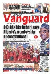 02062019 - OIC:CAN hits Buhari, says Nigeria's' membership unconstitutional