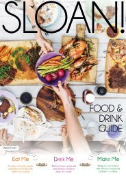 SLOAN! Food & Drink Guide