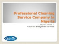 Professional Cleaning Service Company in Nigeria
