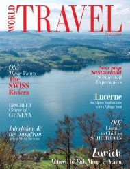 World Travel Magazine Switzerland Special 2019