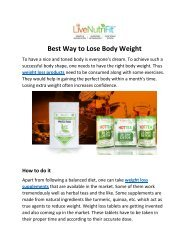 Weight Loss Supplements Natural