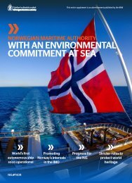 Norwegian Maritime Authority - With an environmental commitment at sea