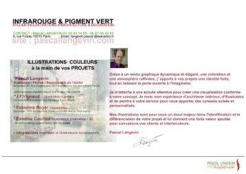 Press Book INFRAROUGE et PIGMENT vert Pascal Langevin