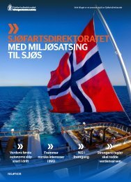 Sjøfartsdirektoratet - Med miljøsatsing til sjøs