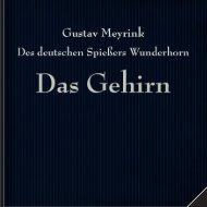 G-Meyrink Des deutschen Spießers Wunderhorn -Das Gehirn
