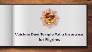 Vaishno Devi Temple Yatra Insurance for Pilgrims
