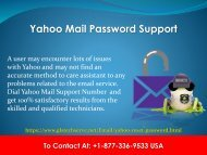 Yahoo Mail Password Support Number