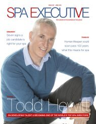 Spa Executive | Issue 7 | June 2019