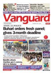 04062019 - Buhari orders fresh panel; gives 3-month deadline