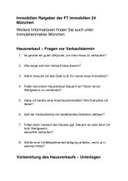 Immobilien Ratgeber der FT Immobilien 24 Immobilienmakler München