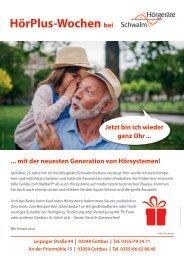 HörPlus-Wochen bei Hörgeräte Schwalm