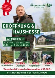 Bayerwald Eröffnungsflyer