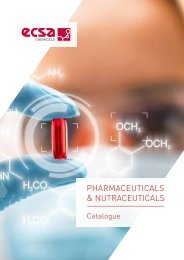 ECSA Chemicals - Pharmaceuticals and Nutraceuticals Catalogue