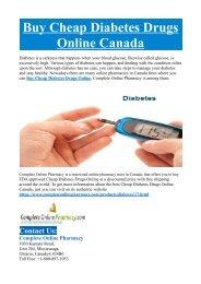 Buy Cheap Diabetes Drugs Online Canada
