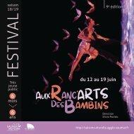 Programme Festival Ranc'arts des Bambins 2019