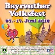 Bayreuther Volksfest Infoflyer 2019