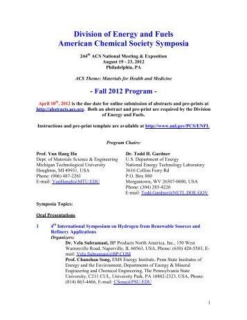 Fall 2012 Program - Argonne National Laboratory