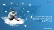 Top Cloud Computing Benefits For Accounting & CPA Firms
