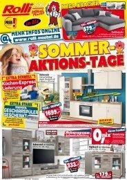Sommer-Aktions-Tage bei Rolli SB-Möbelmarkt, 65604 Elz