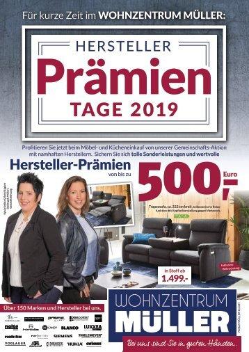 Hersteller Prämien Tage 2019