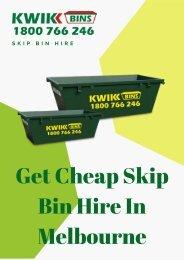 Get Cheap Skip Bin Hire in Melbourne