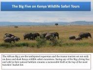 See The Big Five on Kenya Wildlife Safari Tours