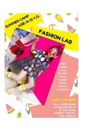 Brochure Summer Fashion lab 2019