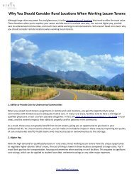 Why You Should Consider Rural Locations When Working Locum Tenens