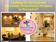 Looking for the best and affordable Promotional Products in Brampton