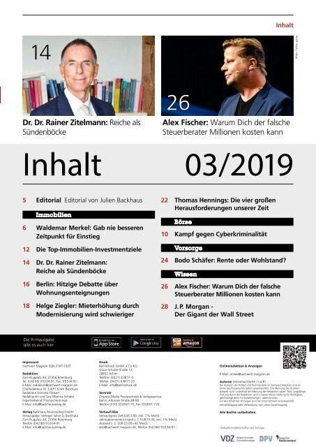 Sachwert Magazin 03/2019