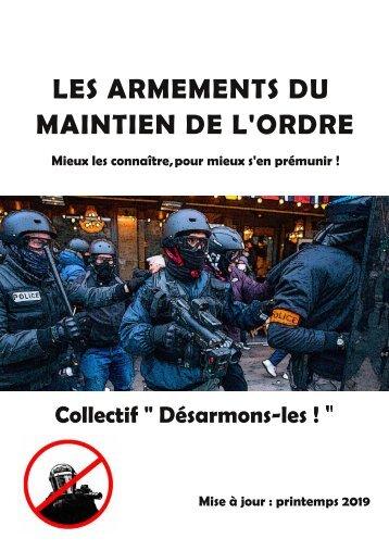 Brochure sur les armements du maintien de l'ordre