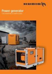 Power generator (EN) | Hüdig GmbH & Co. KG
