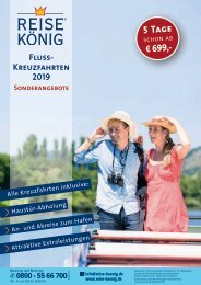 REISE KÖNIG Flusskreuzfahrt-Sonderangebote 2019