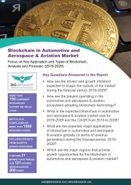 Blockchain in Automotive and Aerospace & Aviation Market Report