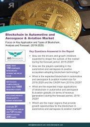 Blockchain in Automotive and Aerospace & Aviation Market Report