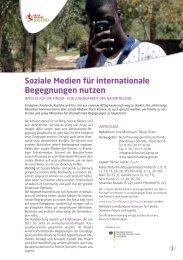 Soziale Medien für internationale Begegnungen nutzen