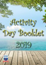Activity Day Booklet 2019