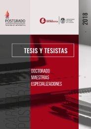 Tesis y Tesistas 2018 - Postgrado - Facultad de Informática - UNLP