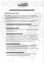 Leistungsportfolio der Castellbergschmiede