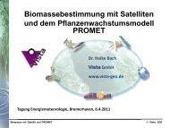 Heike Bach; Vista GmbH: Biomassebestimmung mit Satelliten und
