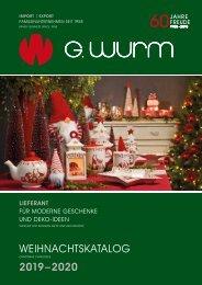 G.Wurm Weihnachtskatalog 2019