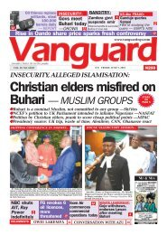 07062019 - Christian elders misfired on Buhari — MUSLIM GROUPS
