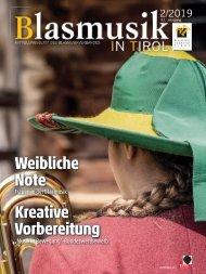 Blasmusik in Tirol - Ausgabe 2 / 2019