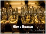 Hire a Barman for Your Event
