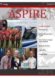 ASPIRE Newsletter - 7th June 2019