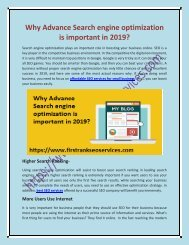 PDF Why Advance Search engine optimization is important in 2019-converted